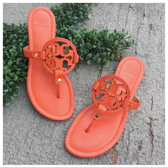1bbe641220cd Tory Burch Sea Coral Snake Print Miller Sandals. M 5cb3f1c5c953d807b5fa2e67